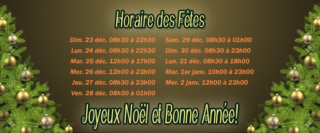 Quillorama des Bois-Francs horaire des Fêtes