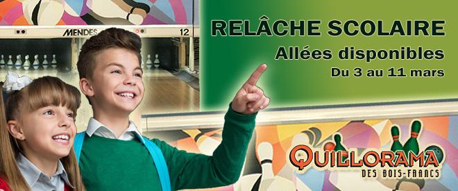 Relâche scolaire Quillorama des Bois-Francs